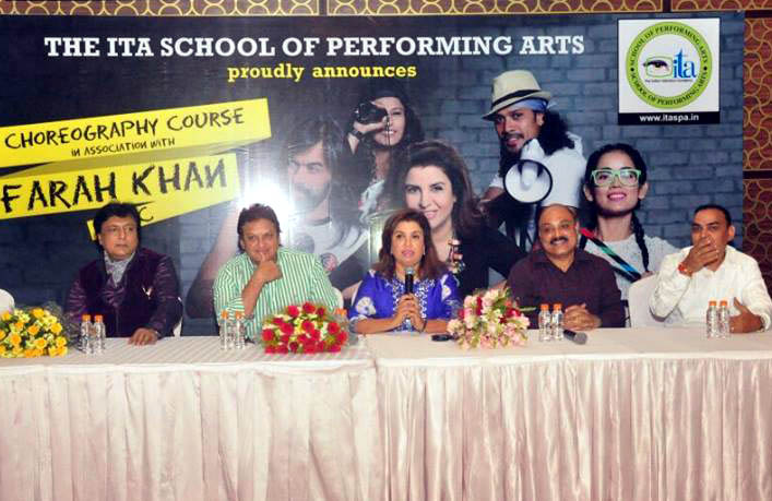 Farah Khan Choreography Course (FKCC) Starts at the ITASPA, Indore…Press Conference