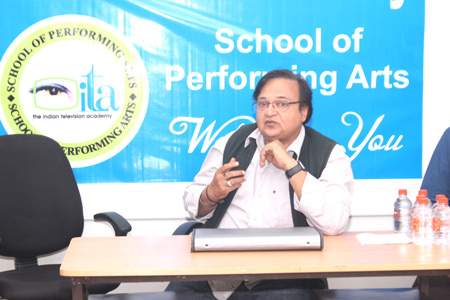 Acting workshop with Rakesh Bedi at ITA School Indore
