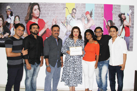 Farah Khan, Dean of FKCC Celebrates… Completion of Choreography course for the first batch at the ITA School of Performing Arts Mumbai...